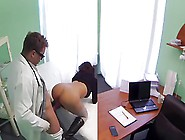 Doctor Love's Office-Help's Her Stomach Pain-By Packma