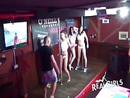Curvy College Amateurs Dancing In A Wet T-Shirt Contest