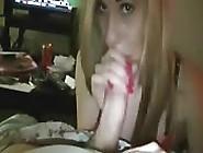 Blonde Teen Sucks Cock On Webcam