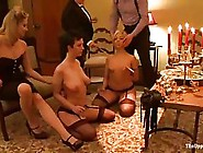 Gagged Babe And Her Kinky Friends Were Tied Up In Front Of Many