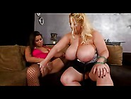 Huge Titted Bbw And Curvy Girlfriend Toying