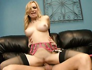 Bodacious Blonde Slut In Black Stockings Aiden Starr Rides A Lon