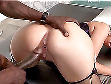 Interracial Ball Licking And Pussy Drilling With Madison Rose