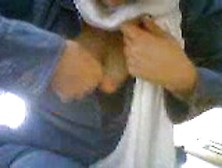 Muslim Girl Flashing Her Boobs In Public