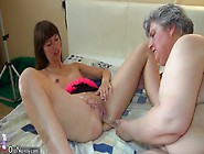 Nice Girl And Fat Granny Masturbating Together,  Two Guy Come To