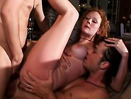 Nasty Redhead With Big Boobs Audry Has Two Studs Punishing Her H