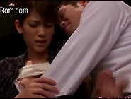 Japanese Beauty Wife Nina Blowjob Jacks His Big Dick Off In Publ