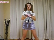 Pantyless Upskirt Workout With Teddy Bear