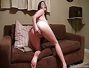 Dirty Minded Brunette With Nice,  Firm Tits Is Masturbating In Fr