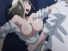 Blonde Babe Blushes As Her Bushy Cunt Gets Pounded In A Hentai F