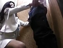 Asian Bitch Plays Dirty Games With A Guy In A Dressing Room