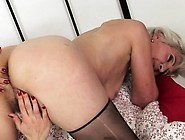 Grey-Haired Granny Moans While Having Her Tight Hole Penetrated