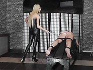 Hard Caning Punishment By Hot Young Blonde Dominatrix