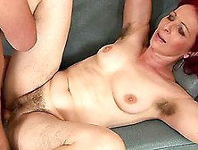 Debra Gets Her Hairy Pussy Licked And Fucked In Missionary Posit