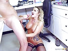 Cali Carter Is Sucking A Rock Hard Dick And Getting Fucked Inste