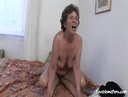 Naughty Mature Granny Gets Anally Fucked In Bed
