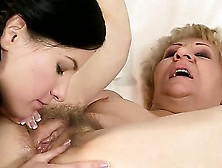 Short Haired Blonde Granny Kati Bell With Hanging Tits And Smoki