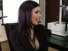Hot Big Boobs Brunette Fucked In The Office