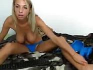 Hot Romanian Blonde Slut Big Natural Tits & Big Areolas