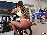 August Ames Plays Games As A Black Man Licks At Her Wet Pussy