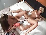 Two Friends Having Fun Masturbating With A Machine