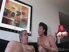 Milf Takes A Poking In Her Hairy Old Pussy