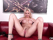 Gorgeous Blonde Margo Russo Shows Off Her Perfect Curvy Body And