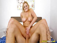 Juicy Big Boobed Chubby Blonde Girl Rides A Fat Cock In Cowgirl