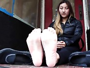 Foot Fetish And Hardcore Sex With The Most Attractive Asian