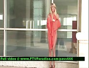 Inventive Shy Blonde Public Flashing