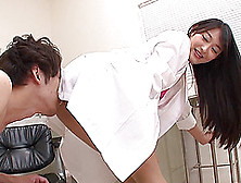 A Nurse Grinds Her Pussy Into His Face Then Onto His Cock