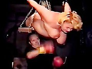 Boxing This Sexy Milf's Tits Having Her Hanged Up