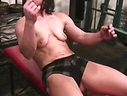 Muscle Babe Workout And Striptease