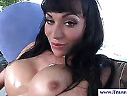 Solo Raven Shemale Playing Ass And Cock