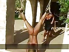 Women Tied Upside Down And Whipped
