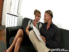 Sextractive Milf Jennifer Love Enjoys Eating Hard Dick Before St