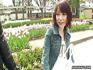 Slutty Japanese Girl Kanami Mita Gives Outdoor Blowjob To One St