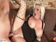 Big Titted Mature Blonde Alex Little Gets Her Shaved Pussy Drill