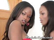 Stunning Identical Lesbian Twin Sisters,  Sexy Ebony French Twins
