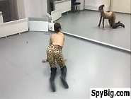 Hot Dancer Practicing Her Moves
