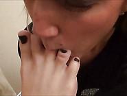 Blonde Teen Lesbian Licks Feet