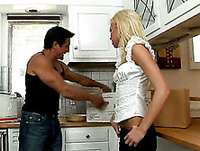 Stunning Kacey Jordan Goes Hardcore In The Kitchen
