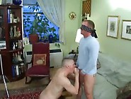 Blindfolded & Tricked By Friend