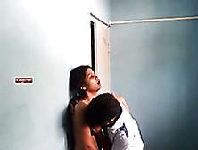 My Teeny Indian Babe Jerks Off My Dick Near The Wall