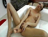 Skinny Slut In Glasses Likes Big Cock In Pov