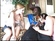Older Hoe And Young Gal Play With Big Black Cock