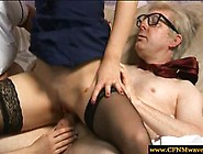 Cfnm Dominas Dominating Old Man By Riding His Cock