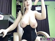 Busty Babe Dildos Her Pussy Deep On Cam
