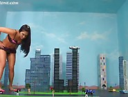Giantess Jade Wrecks City