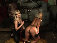 Nasty Blonde Enjoys Playing With This Young Hottie's Tied Up Bod